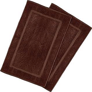 Utopia Towels 21 Inch by 34 Inch Cotton Washable Bath Mat. Amazon com  Premium 8 Piece Towel Set  Dark Brown   2 Bath Towels