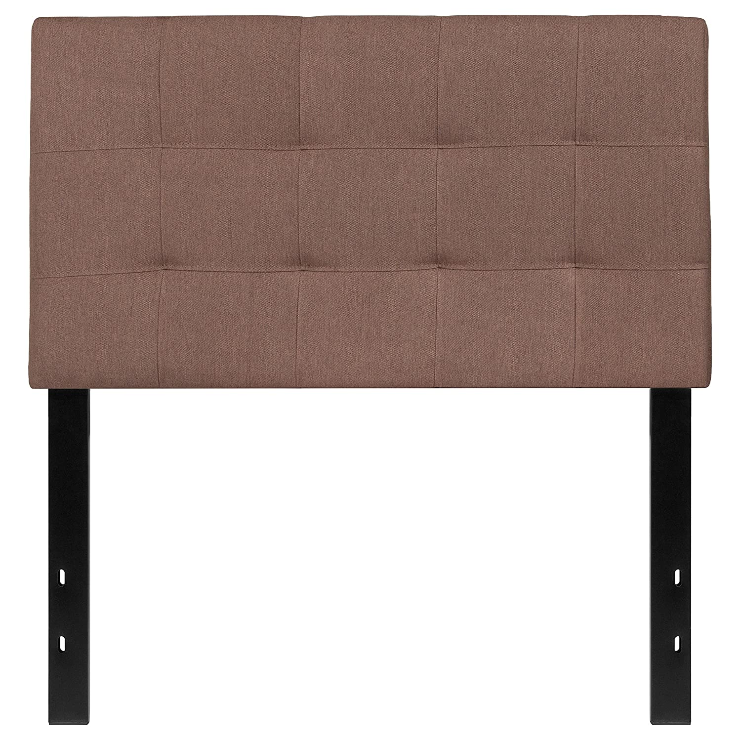 Flash Furniture Bedford Tufted Upholstered Twin Size Headboard in Beige Fabric HG-HB1704-T-B-GG