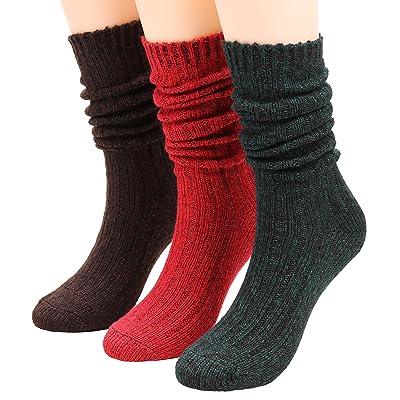 3 Pairs Women Winter Knee High Knit Wool Leg Warmer Boot Socks Size 5-10 S6