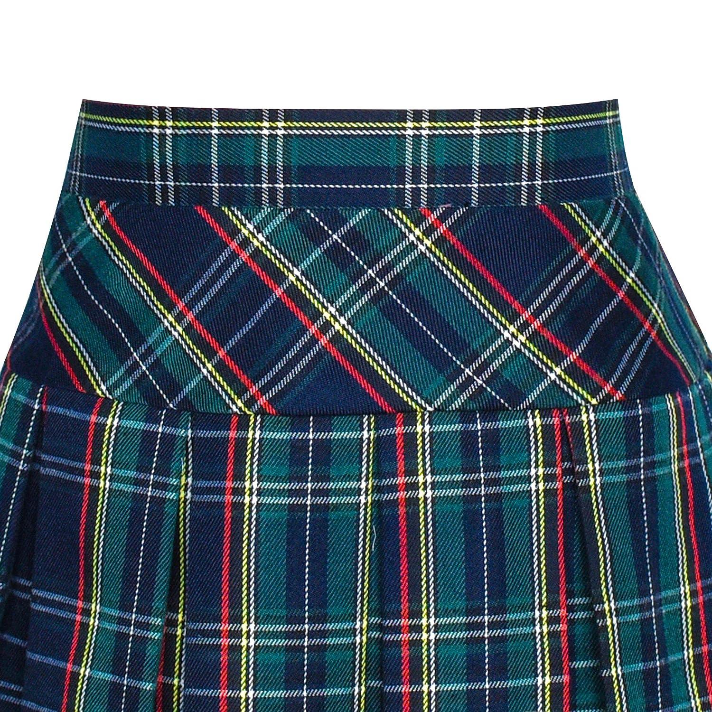 Sunny Fashion Girls Dress School Black White Check Suspender Skirt Size 4-10