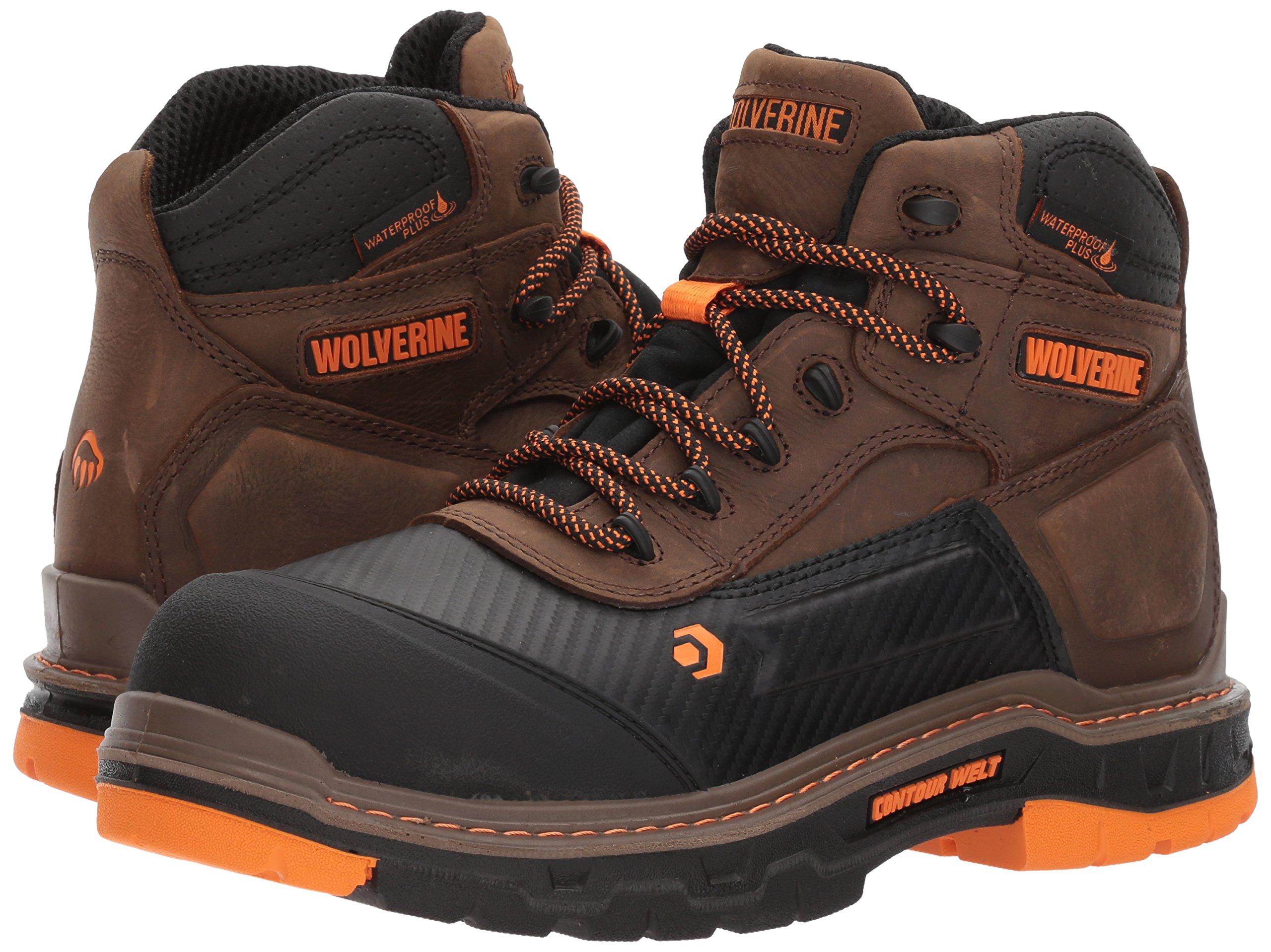 Wolverine Men's Overpass 6'' Composite Toe Waterproof Work Boot, Summer Brown, 10.5 M US by Wolverine (Image #6)