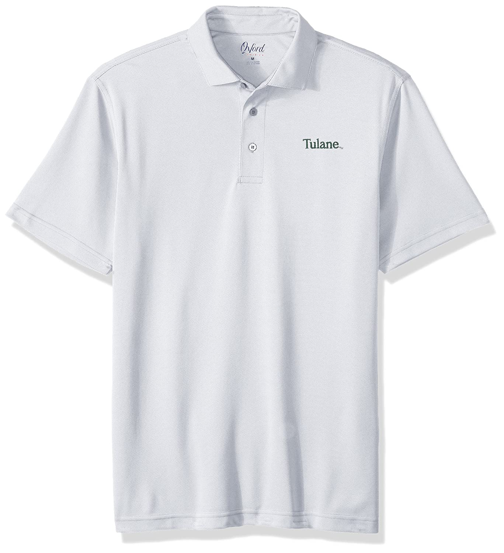 Oxford NCAA Tulane Green Wave Men's Houston Performance Polo Shirt Medium Highrise