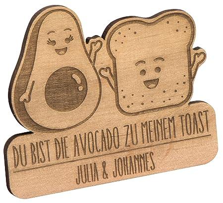 Hojas Lust Imán de Frigorífico aguacate & Toast - Personalizado ...