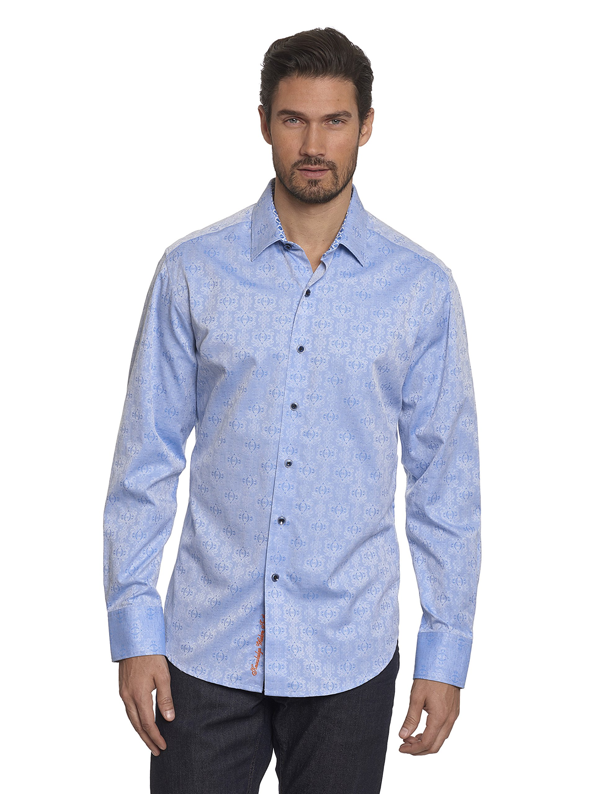 Robert Graham Cullen Long Sleeve Woven Shirt Light Blue 3X Large by Robert Graham