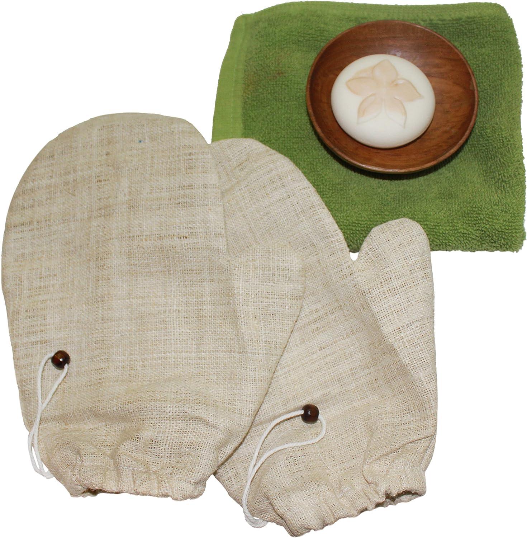 confezione da 2 Guanti di macchia cutanea de canapa naturale