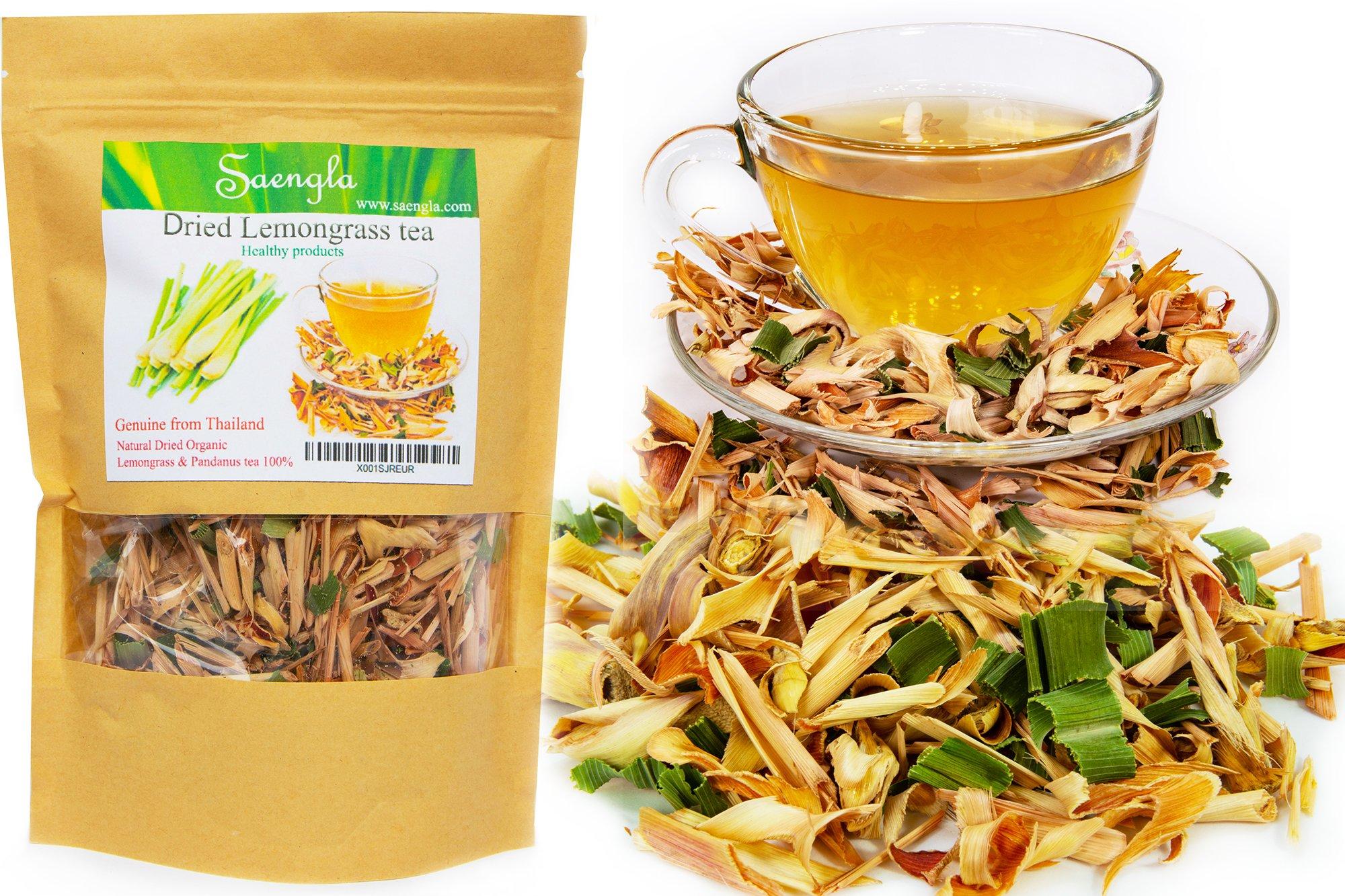 Seangla Organic Dried Lemongrass Tea & Pandan Herb - Fine Cut and Sifted 2.5 Oz