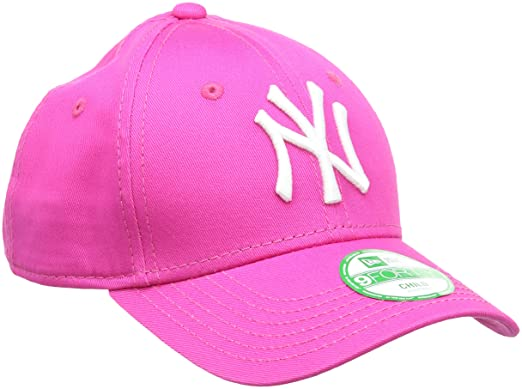 513d9e88d7ad55 New Era Girl's Kids MLB Basic NY Yankees 9Forty Adjustable Cap, Hot Pink,  CHILD