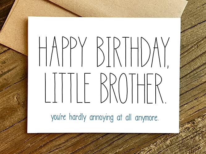 Image Unavailable Not Available For Color Little Brother Birthday Card