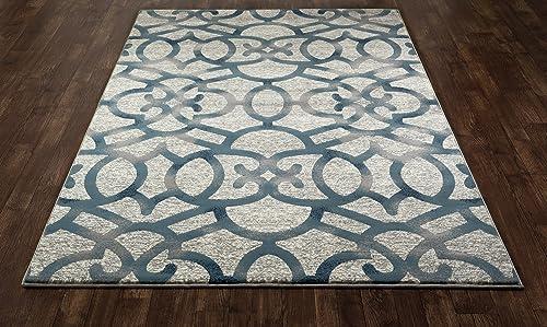 Art Carpet Bastille Collection Trellis Woven Area Rug, 9 x 12 , Gray Blue
