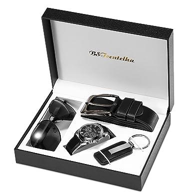 1ba6eab7eb91 BSTcentelha Mens Watch Belt Keychain Sunglasses Gift Set Valentine s Day  present gift