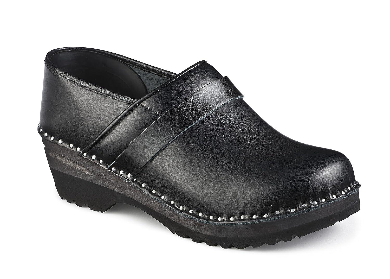 Troentorp Women's B@stad Five Star Professional Leather Clog, Black Leather, 36 EU (6 US)