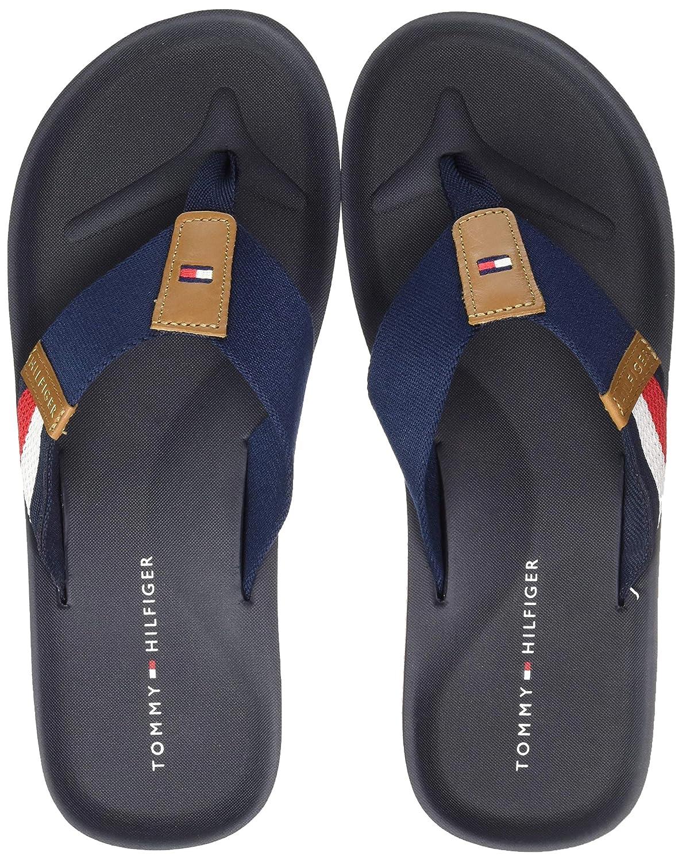 3a7d2a4d26 Tommy Hilfiger Men's Corporate Stripe Beach Sandal Flip Flops