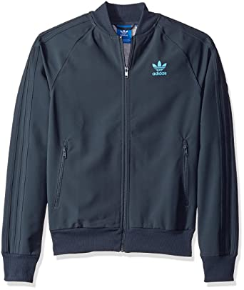 adidas Originals Men's Outerwear Superstar 2 Track Jacket, Utility Blue/Bright Cyan, X