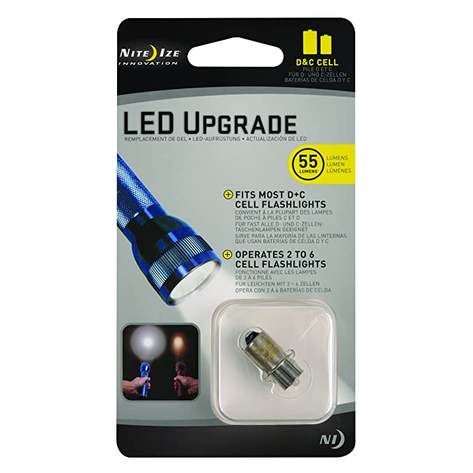 Nite Ize LED Upgrade Bulb for C/D Flashlights, 55 Lumen Bulb ...