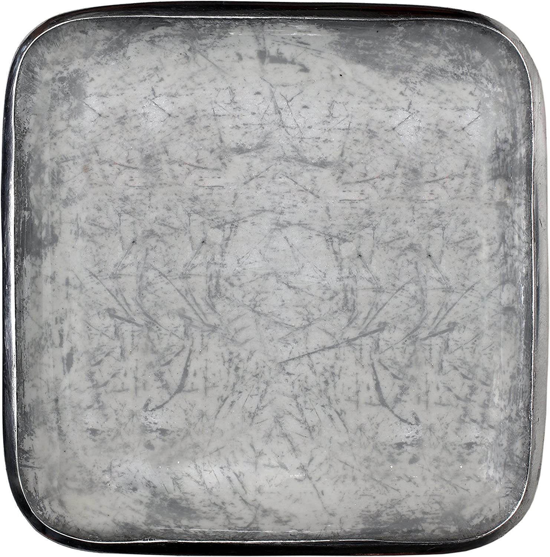 Melange Home Decor Square Tray Platter 8.25-inch Bowl, Color - Light Gray