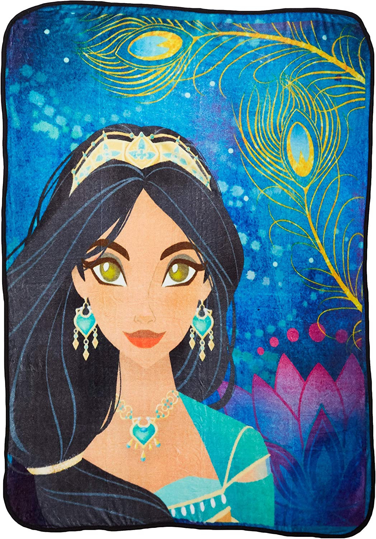 "Disney's Aladdin, ""Bliss"" Micro Raschel Throw Blanket, 46"" x 60"", Multi Color"