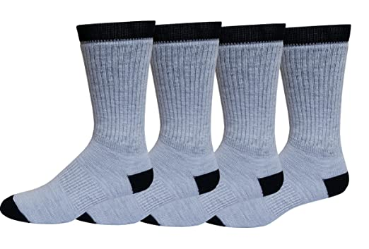 33b0ceab1c5af Image Unavailable. Image not available for. Color: 4 Pairs Pack Men's 73% Merino  Wool Hiking Thermal Socks 10-13 * MADE