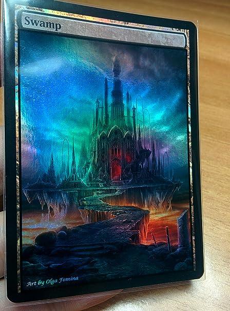 Custom Basic Land non-foil MTG card altered art 1x Full Art swamp