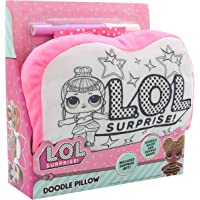 L.O.L. Surprise! Doodle Pillowcase Colouring Game for Kids Lol Coloring Fun Games Throw Pillow Home Decor Washable Pillows Super Soft Plush Random Pick