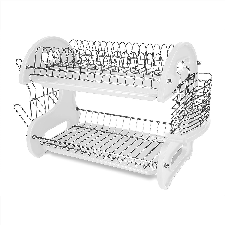 Amazon.com: Home Basics secador de platos plástico ...