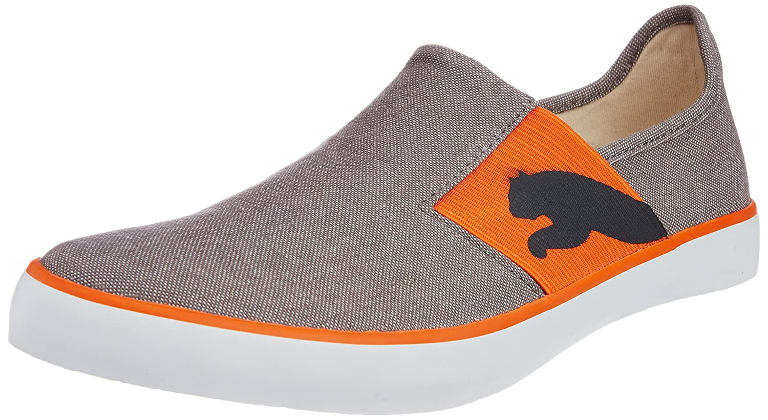 Puma Men's Lazy Slip On Ind Steel Grey and Orange Canvas Boat Shoes - 5  UK/India (38EU): Amazon.in: Shoes & Handbags