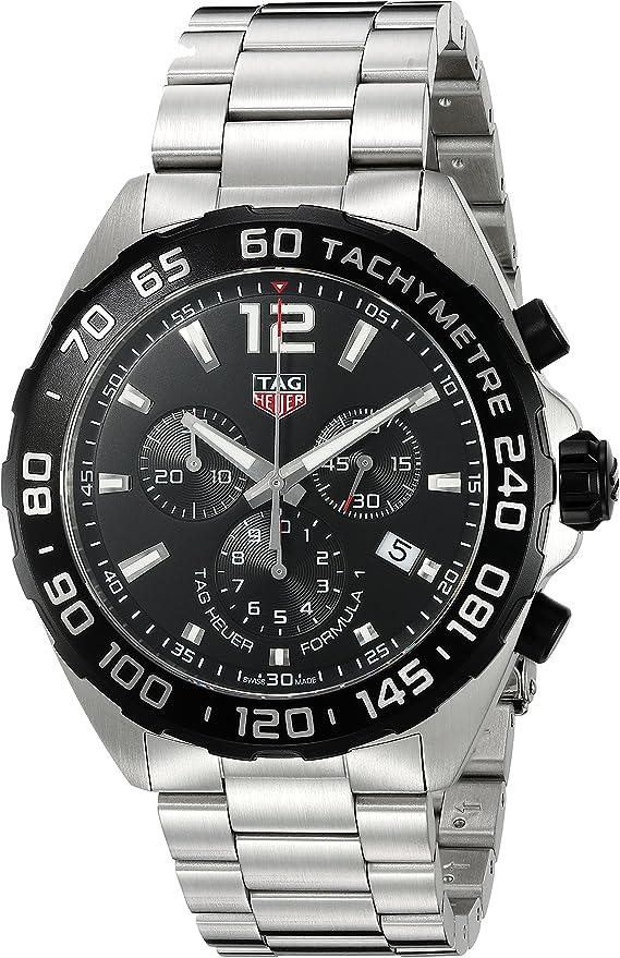 Reloj Tag Heuer Formula 1 de acero, cronógrafo, para hombres, CAZ1010.BA0842: TAG Heuer: Amazon.es: Relojes