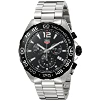 Tag Heuer Men's 'Formula 1' Swiss Quartz Stainless Steel Dress Watch, Color:Silver-Toned...