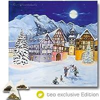 XL Tee Adventskalender (48x49cm!) 24 Pyramiden-Beutel, hochwertige Kräuter-, Früchtetees