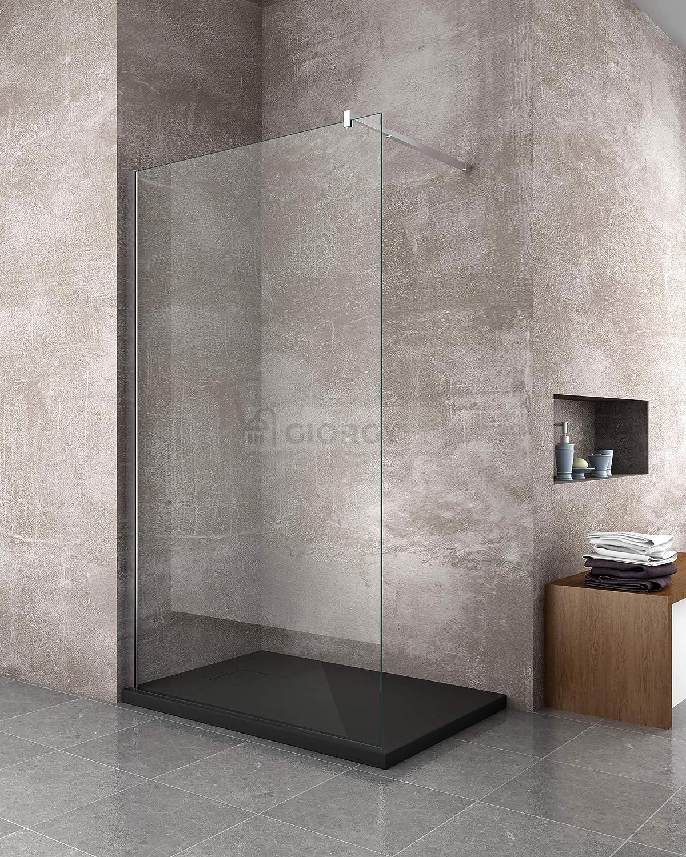 Piatto doccia 70x90 Antracite H.2.6 cm effetto pietra ardesia SMC in resina termoformata.