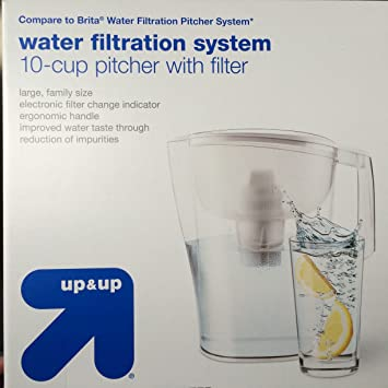 Up U0026 Up   10  Cup Water Pitcher Filtration System With Filter