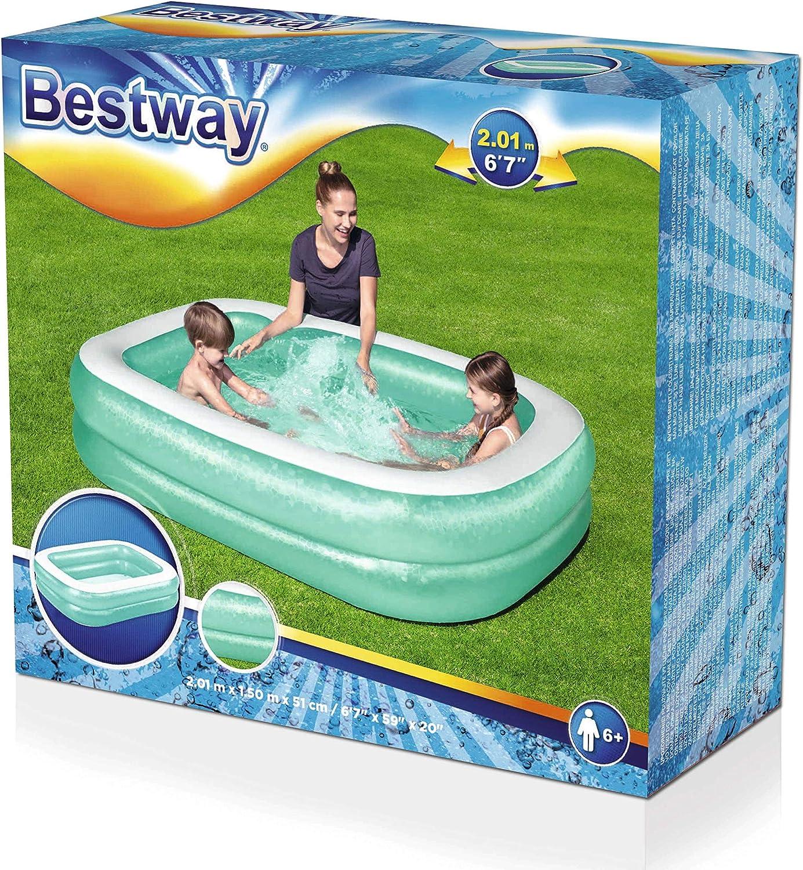 Bestway Family - Piscina hinchable para niños, 201 x 150 x 51 cm, color azul