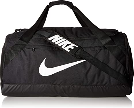 Apuesta Preguntarse estilo  Amazon.com: NIKE Brasilia - Bolsa de viaje (talla L), color negro y blanco:  Clothing