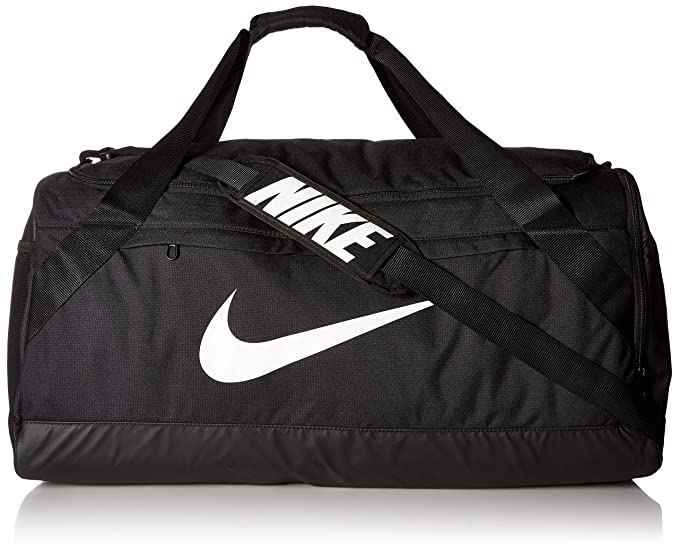 ed34dff1591576 Amazon.com: NIKE Brasilia Duffel Bag, Black/Black/White, Large: Clothing