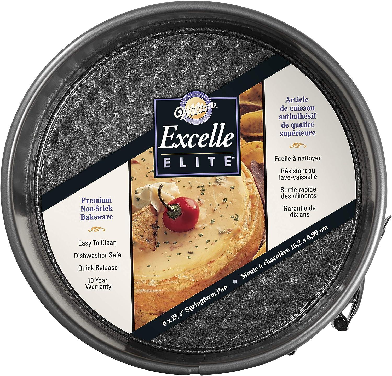 Wilton Excelle Elite Springform Pan, Sturdy Non-Stick and Scratch-Resistant Springform Pan, 6-Inch