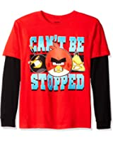 Angry Birds Boys' Big Boys' Can't Be Stopped Long Sleeve Two-fer T-Shirt