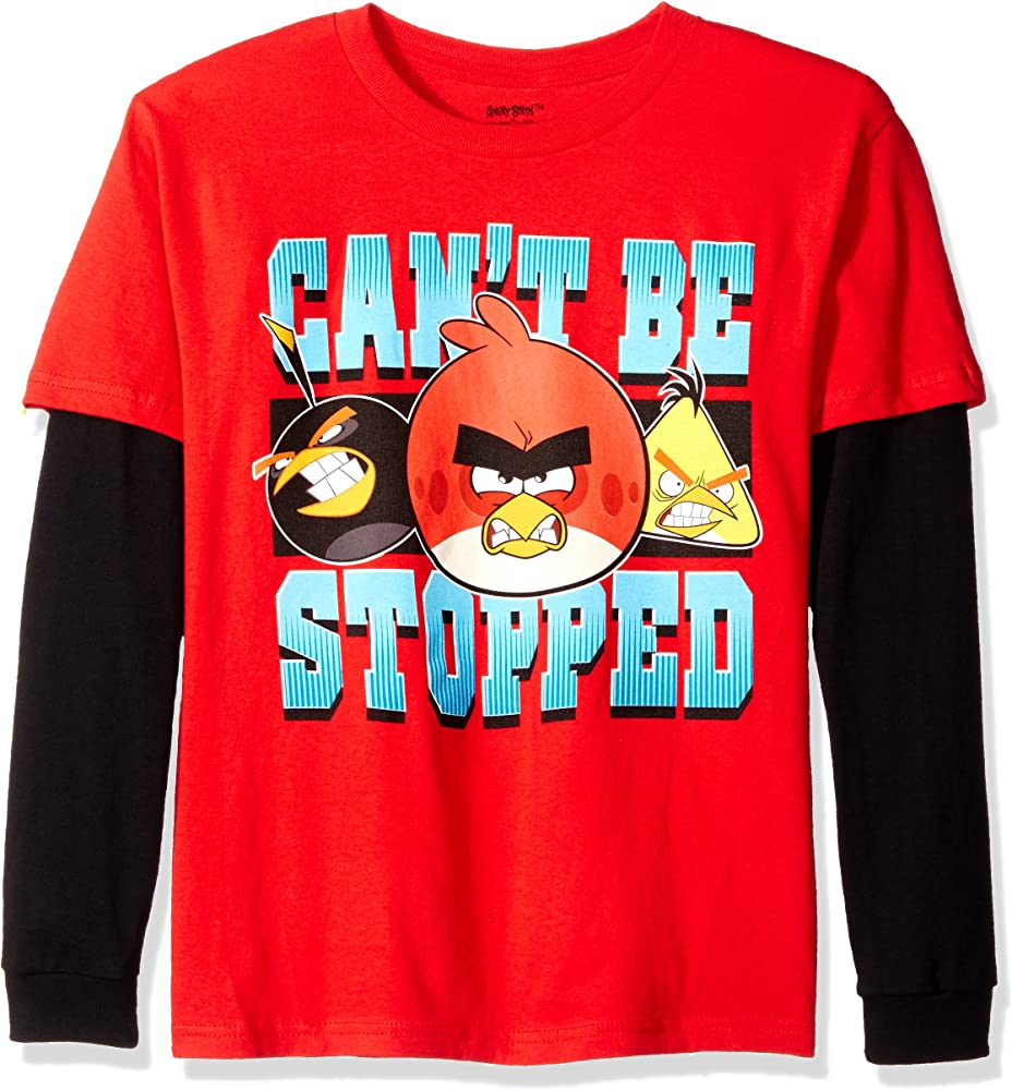 Angry Birds Official Angry Bird Kids T-Shirt Age 3-4 Years Youth Shirt Red