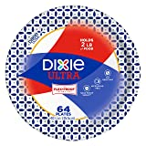 """Dixie Ultra Paper Plates, 10 1/16"""", 64 Count, Dinner Size Printed Disposable Plates"""