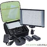 Radiant 280-LED CRI 95+ Bi-Color Dimmable Camcorder Video Camera Light and On-Camera Light Kit