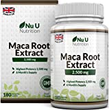 Maca Root Capsules 2500mg by Nu U | 180 Capsules (6 Month's Supply)