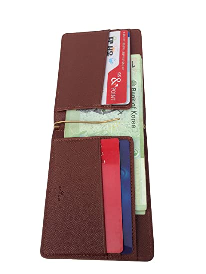 Amazon.com: corcho cartera con clips de Dinero