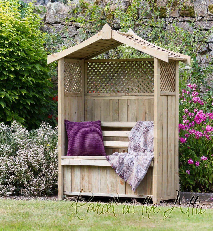 Parcel in the Attic - Mueble de jardín (madera, con función de ...