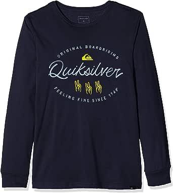 Quiksilver Wave Slaves - Camiseta de Manga Larga para Chicos 8-16 Camiseta De Manga Larga Niños