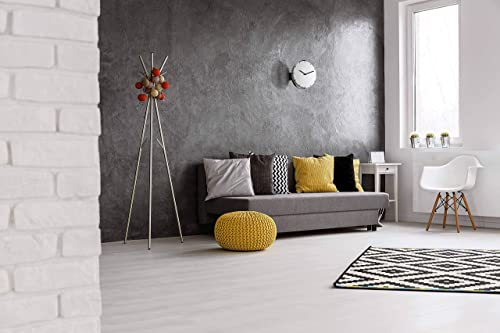 Guzzini Move Your Time Adjustable Clock for Wall or Tabletop, 9-3 4 , Durable Acrylic, Sleek Minimalist Design, White, Black