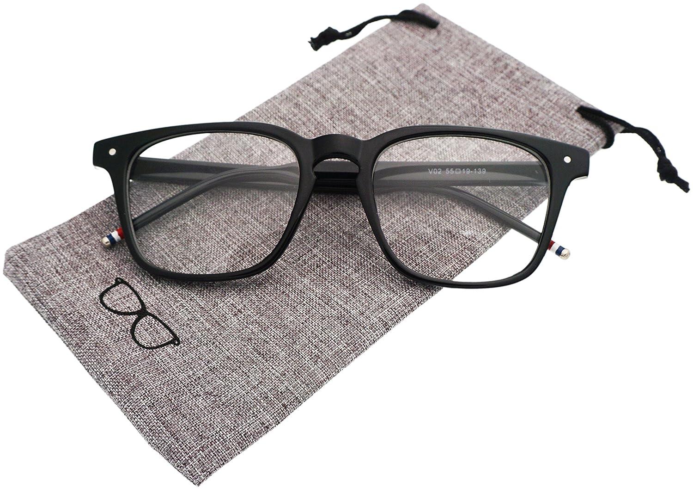 315abf49646 J L Glasses Vintage Classic Full Frame Wood Grain Unisex Glasses Frame  Clear) larger image