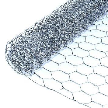 ALEKO WM42X8M1G20 Mesh Wire Roll Cloth, 20 Gauge Steel Hexagonal For ...