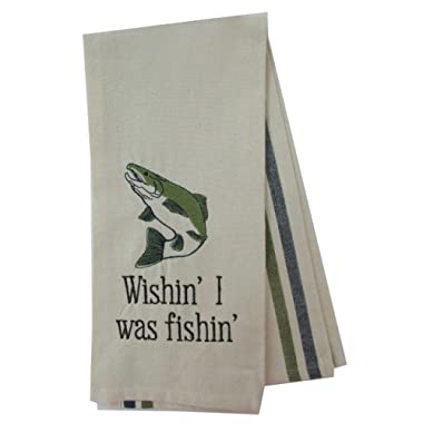 DEI Woodland River Fish Dish Towel (Wishin')