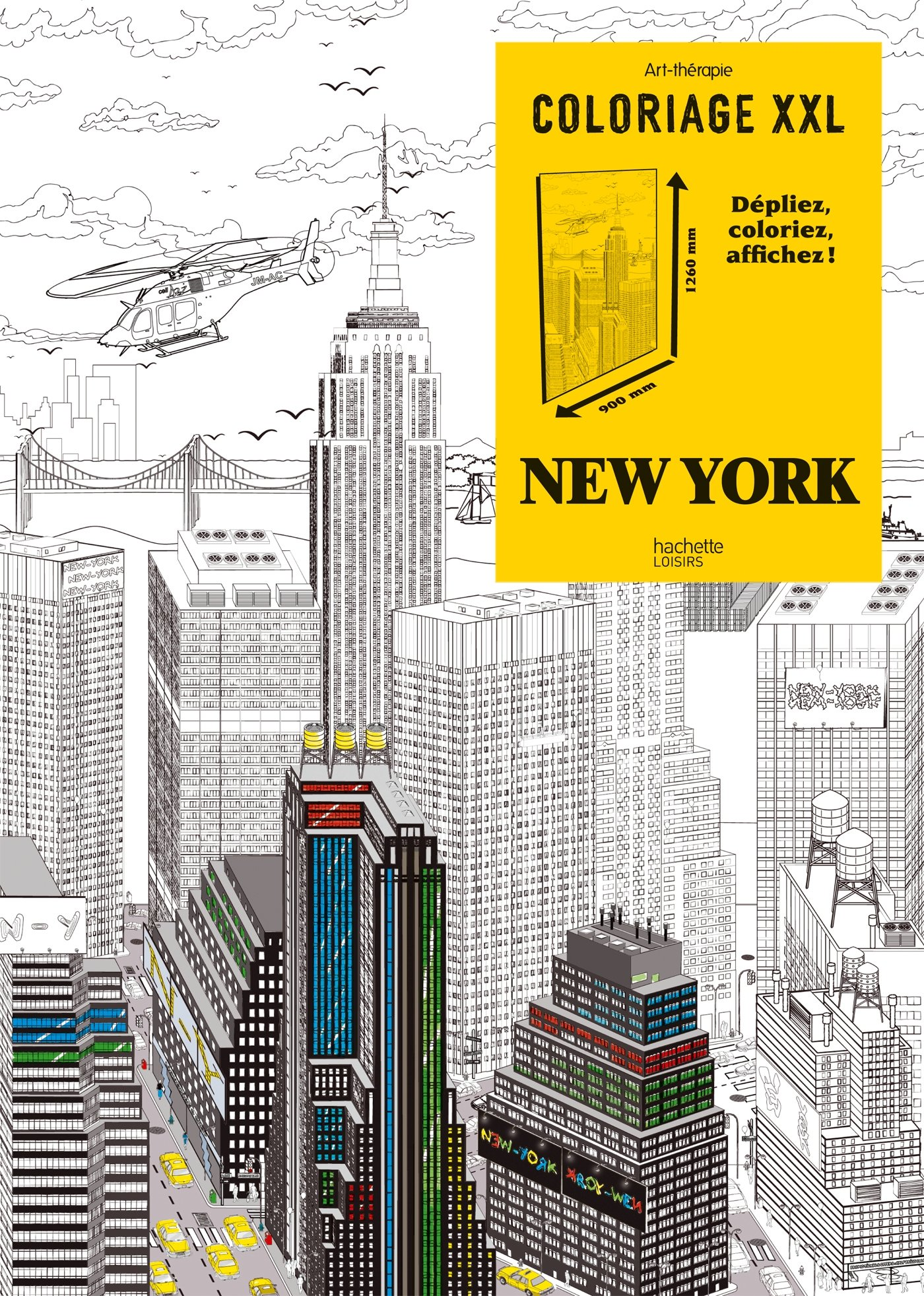 Coloriage Xxl New York Coloring Book New York French Edition