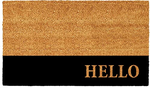 Calloway Mills AZ104863048 Hello Stripe Doormat, 30 x 48 , Natural Black