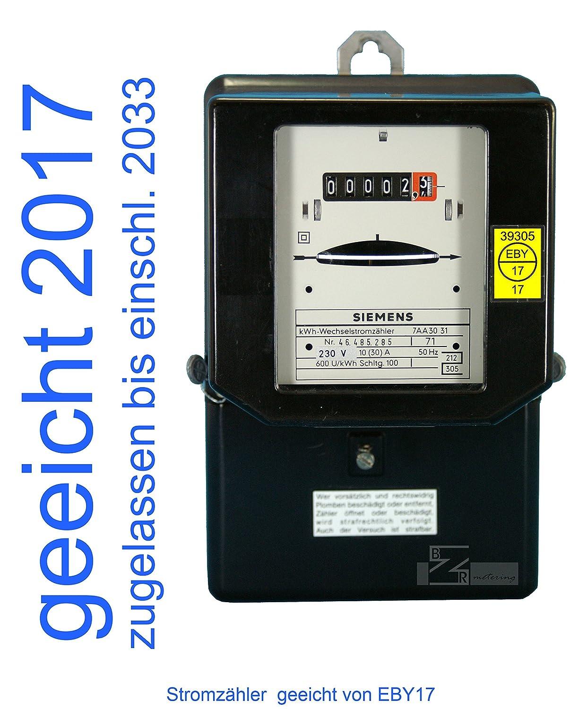 Wechselstromzä hler 10(30)A geeicht fü r Verrechnungszwecke zugelassen (max. 6, 9kW) EBY17 121030