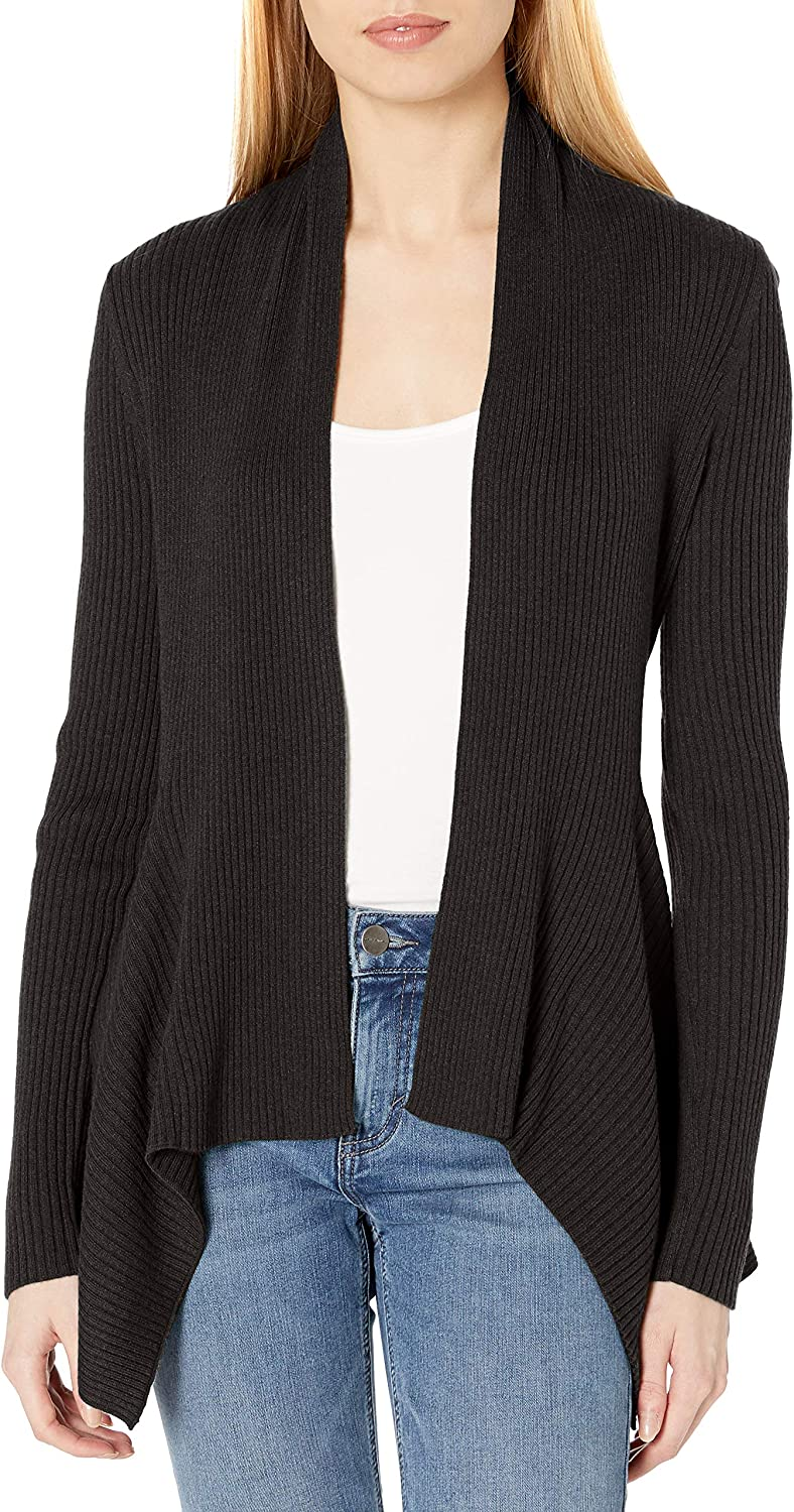 Amazon Brand - Daily Ritual Women's Ultra-Soft Ribbed Draped Cardigan Sweater
